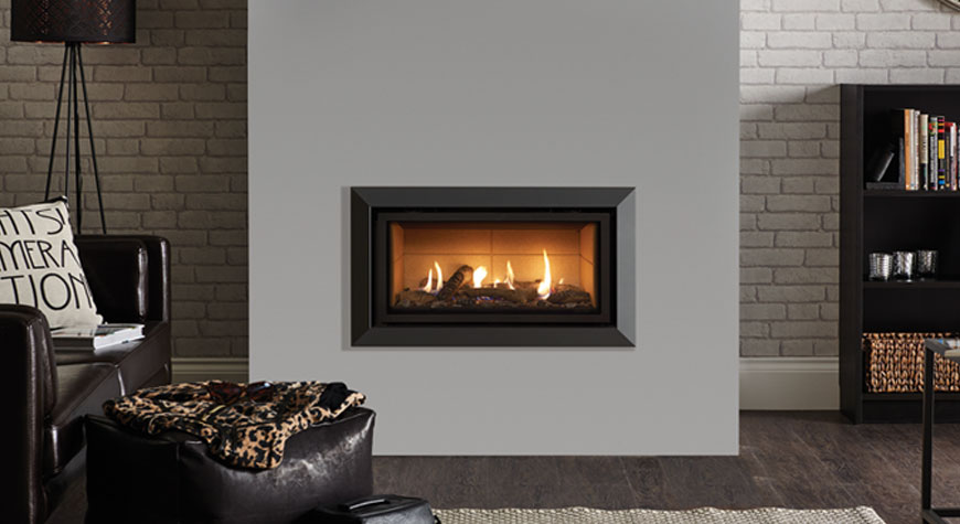 Gazco Bauhaus Gas Fire available from £1949 plus vat - Rigby