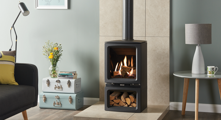 Gazco Vogue Midi Gas Stove available from £1582 plus vat - Rigby Fires