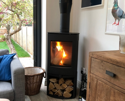 Freestanding Log Burning Stove Installation Bushey Watford Rigby Fires